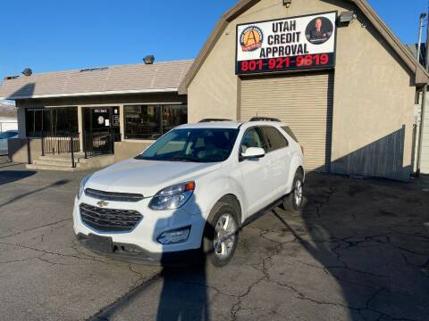2016 Chevrolet Equinox for sale at Utah Credit Approval Auto Sales in Murray UT