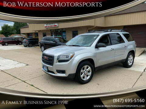 2014 GMC Acadia for sale at Bob Waterson Motorsports in South Elgin IL