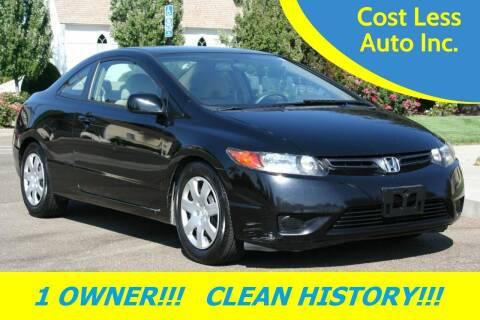 2006 Honda Civic for sale at Cost Less Auto Inc. in Rocklin CA