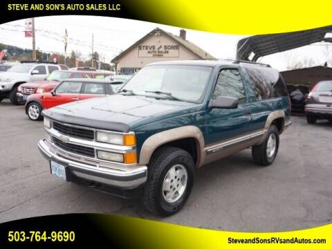 1995 Chevrolet Tahoe for sale at Steve & Sons Auto Sales in Happy Valley OR