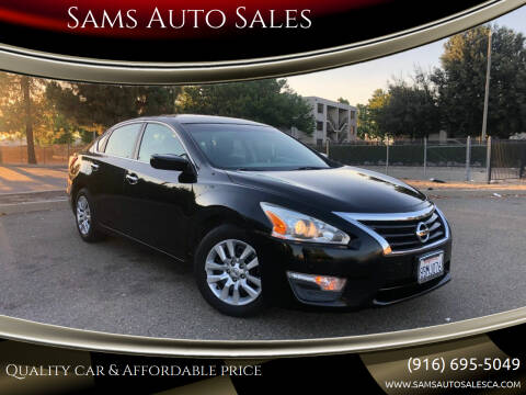 2013 Nissan Altima for sale at Sams Auto Sales in North Highlands CA
