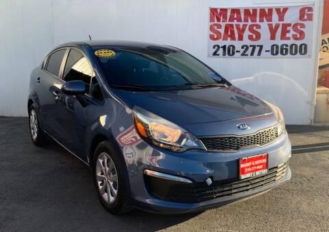 2016 Kia Rio for sale at Manny G Motors in San Antonio TX