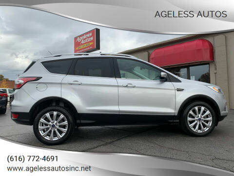 2017 Ford Escape for sale at Ageless Autos in Zeeland MI