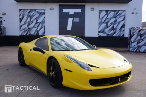 2015 Ferrari 458 Spider for sale at Tactical Fleet in Addison TX