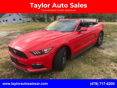 2017 Ford Mustang for sale at Taylor Auto Sales in Springdale AR