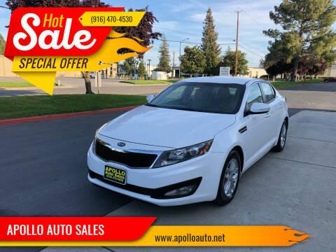 2013 Kia Optima for sale at APOLLO AUTO SALES in Sacramento CA