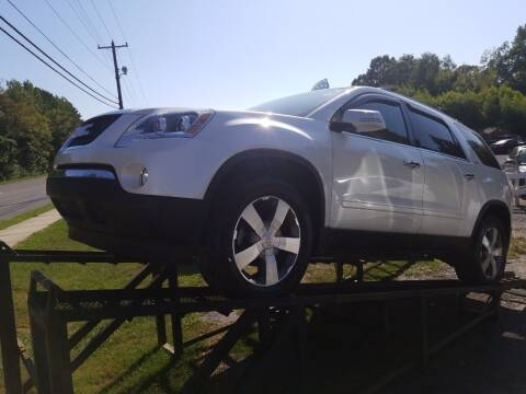 2012 GMC Acadia for sale at TR MOTORS in Gastonia NC