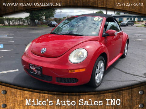 2007 Volkswagen New Beetle Convertible for sale at Mike's Auto Sales INC in Chesapeake VA