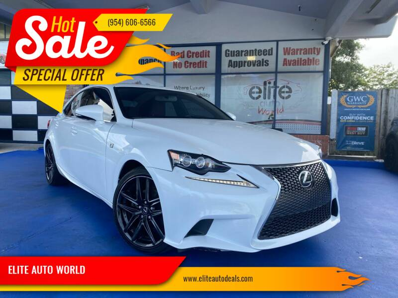 2014 Lexus IS 250 for sale at ELITE AUTO WORLD in Fort Lauderdale FL