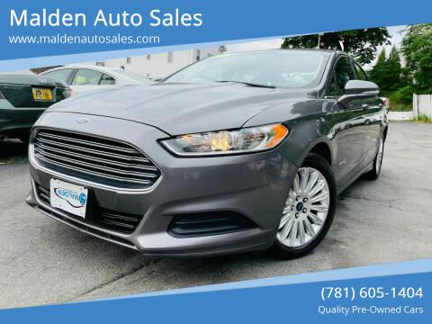 2014 Ford Fusion Hybrid for sale at Malden Auto Sales in Malden MA