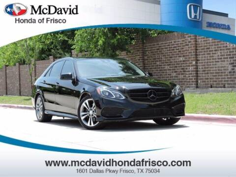 2016 Mercedes-Benz E-Class for sale at DAVID McDAVID HONDA OF IRVING in Irving TX