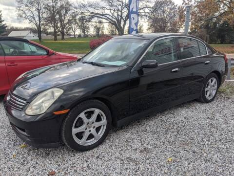 2003 Infiniti G35 for sale at AUTO PROS SALES AND SERVICE in Belleville IL