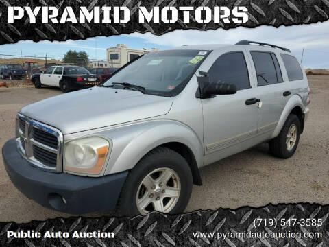 2004 Dodge Durango for sale at PYRAMID MOTORS - Pueblo Lot in Pueblo CO