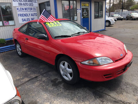 2002 Chevrolet Cavalier for sale at Klein on Vine in Cincinnati OH