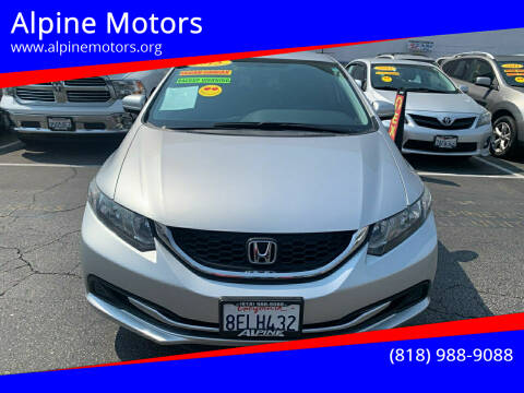 2015 Honda Civic for sale at Alpine Motors in Van Nuys CA