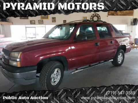 2004 Chevrolet Avalanche for sale at PYRAMID MOTORS - Pueblo Lot in Pueblo CO