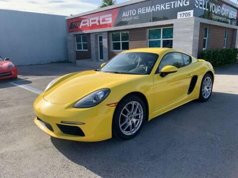 2018 Porsche 718 Cayman for sale at Auto Remarketing Group in Pompano Beach FL