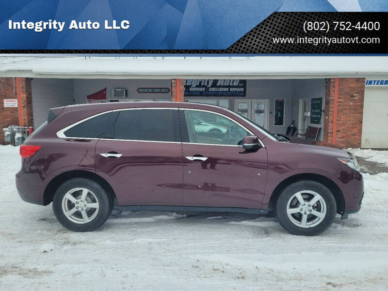 2014 Acura MDX for sale at Integrity Auto LLC - Integrity Auto 2.0 in St. Albans VT