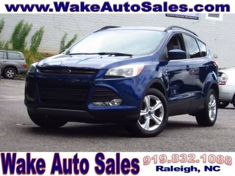 2016 Ford Escape for sale at Wake Auto Sales Inc in Raleigh NC