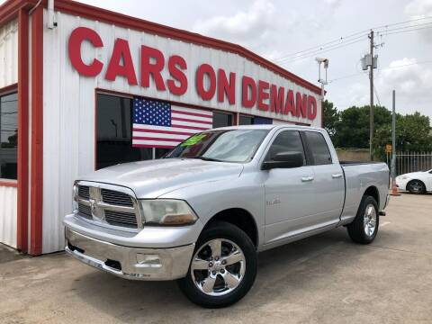 2010 Dodge Ram Pickup 1500 for sale at Cars On Demand 2 in Pasadena TX