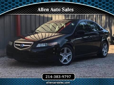 2006 Acura TL for sale at Allen Auto Sales in Dallas TX