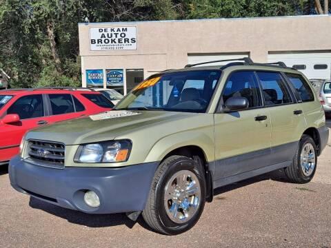 2003 Subaru Forester for sale at De Kam Auto Brokers in Colorado Springs CO