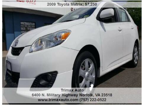 2009 Toyota Matrix for sale at Trimax Auto Group in Norfolk VA