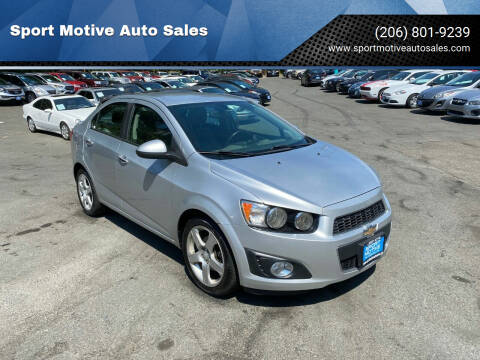 2015 Chevrolet Sonic for sale at Sport Motive Auto Sales in Seattle WA
