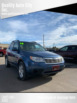 2010 Subaru Forester for sale at Quality Auto City Inc. in Laramie WY
