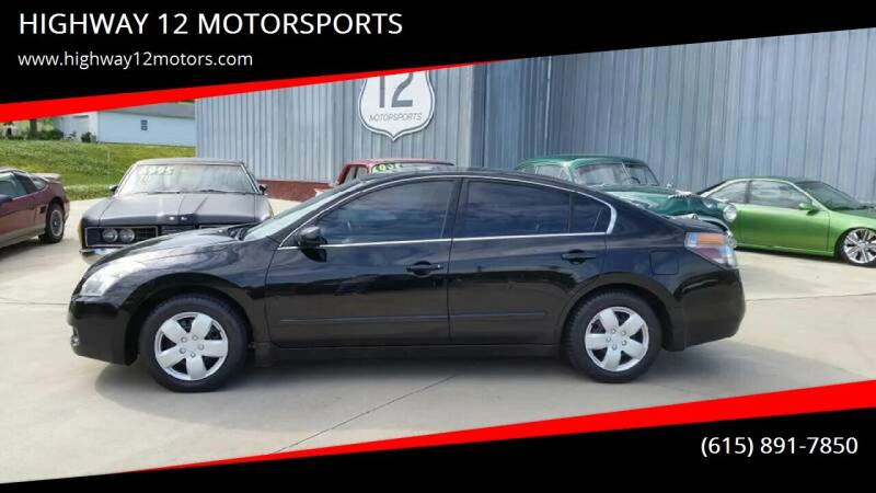 2008 Nissan Altima for sale at HIGHWAY 12 MOTORSPORTS in Nashville TN
