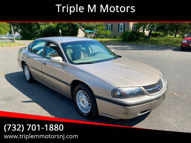 2001 Chevrolet Impala for sale at Triple M Motors in Point Pleasant NJ