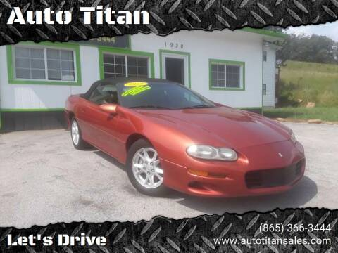 2002 Chevrolet Camaro for sale at Auto Titan in Knoxville TN
