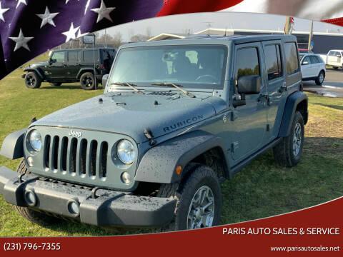 2015 Jeep Wrangler Unlimited for sale at Paris Auto Sales & Service in Big Rapids MI