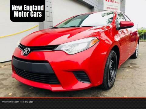 2014 Toyota Corolla for sale at New England Motor Cars in Springfield MA