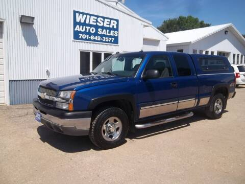 2004 Chevrolet Silverado 1500 for sale at Wieser Auto INC in Wahpeton ND