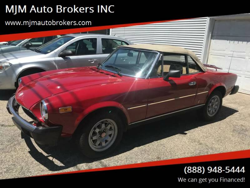 1979 FIAT 124 Spider for sale at MJM Auto Brokers INC in Gloucester MA