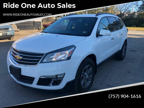 2016 Chevrolet Traverse for sale at Ride One Auto Sales in Norfolk VA