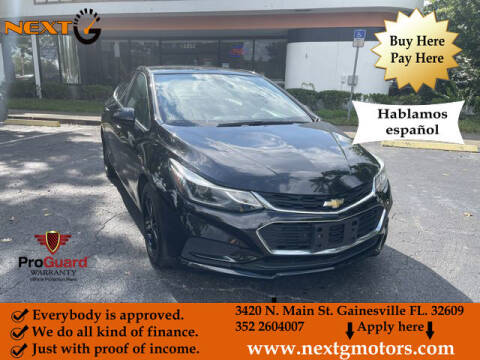 2016 Chevrolet Cruze for sale at Next G Motors in Gainesville FL