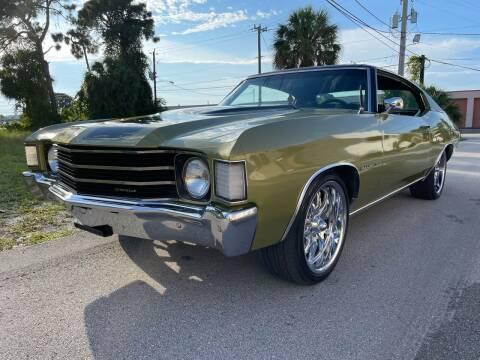 1972 Chevrolet Chevelle for sale at American Classics Autotrader LLC in Pompano Beach FL