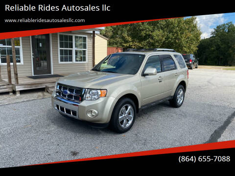 2011 Ford Escape for sale at Reliable Rides Autosales llc in Greer SC
