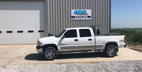 2002 GMC Sierra 2500HD for sale at 402 Autos in Lindsay NE