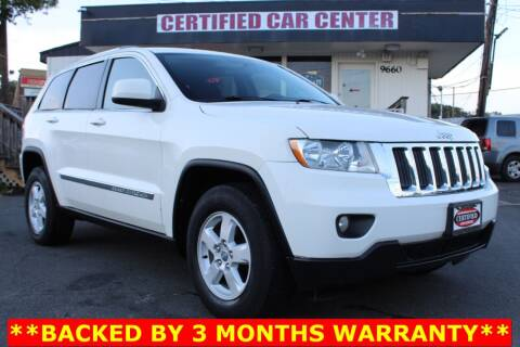 2012 Jeep Grand Cherokee for sale at CERTIFIED CAR CENTER in Fairfax VA