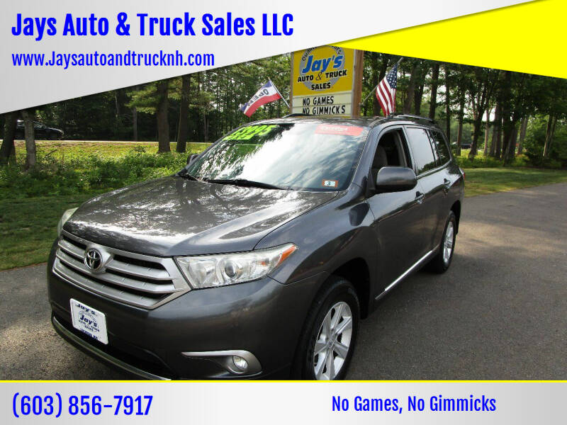 2011 Toyota Highlander for sale at Jays Auto & Truck Sales LLC in Loudon NH