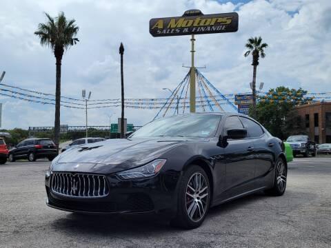 2016 Maserati Ghibli for sale at A MOTORS SALES AND FINANCE in San Antonio TX