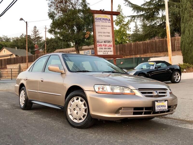2001 Honda Accord for sale at Sierra Auto Sales Inc in Auburn CA