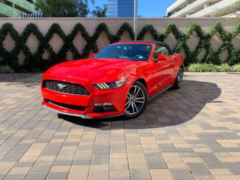 2016 Ford Mustang for sale at ROGERS MOTORCARS in Houston TX
