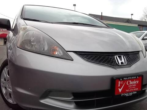 2010 Honda Fit for sale at 1st Choice Auto Sales in Fairfax VA
