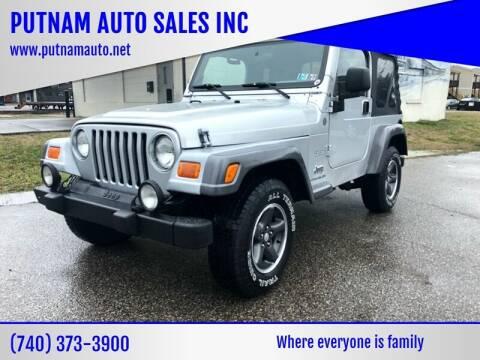 2004 Jeep Wrangler for sale at PUTNAM AUTO SALES INC in Marietta OH