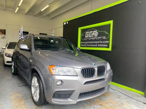 2014 BMW X3 for sale at GCR MOTORSPORTS in Hollywood FL