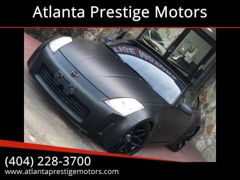 2003 Nissan 350Z for sale at Atlanta Prestige Motors in Decatur GA